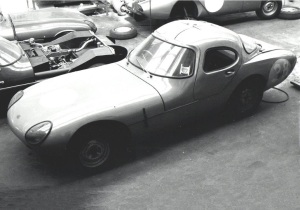 Gullwing Minoprio-Lalonde at the factory April 1964